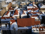 The Old Town&#39;s Snowy Rooftops from the Spire of St. Peter&#39;s Church, Riga, Riga, Latvia Photographic Print by Jonathan Smith