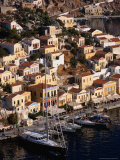 Aerial View of Waterfront, Yialos, Greece Photographic Print by Wayne Walton