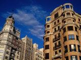 Opulent Historic Buildings on Plaza De Espana, Madrid, Spain Photographic Print by Krzysztof Dydynski