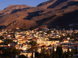 Town with Mountain Behind, Hora, Greece Photographic Print by Wayne Walton