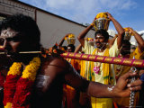 Devotees at Thaipusam Festival, Singapore, Singapore Photographic Print by Michael Coyne