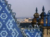 Zsolnay Tiles on the Roof of the Geological Institute of Budapest, Budapest, Hungary Photographic Print by David Greedy
