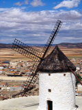 Restored Windmill Looking Over Town, Consuegra, Spain Fotografie-Druck von Damien Simonis