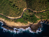 Aerial View of the Great Ocean Road along the Coast Between Lorne and Wye River, Lorne, Australia Photographic Print by Rodney Hyett