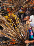 Traditional Headdress Used in Native Dance Outside the Basilica De Guadalupe, Mexico City, Mexico Photographic Print by Rick Gerharter