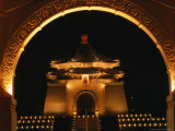 Chiang Kai Shek Memorial at Night, Taipei, Taiwan Photographic Print by Philip & Karen Smith