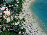 Aerial View of Waikiki Beach, Honolulu, USA Photographic Print by Holger Leue