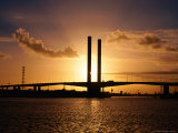 Bolte Bridge at Sunset, Melbourne, Australia Photographic Print by Christopher Groenhout
