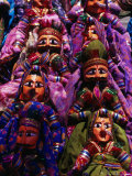 Puppets for Sale in Market, Anjuna, India Photographic Print by Setchfield Neil
