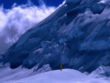 Climber High on Nevado Huascaran, Cordillera Blanca, Mt. Huascaran, Ancash, Peru Photographic Print by Grant Dixon