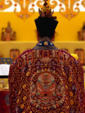 Female Taoist Priest Praying at Altar, Singapore, Singapore Photographic Print by Michael Coyne