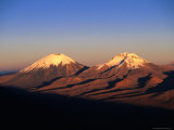 Volcanic Peaks of Mt. Parincota and Mt. Pomerata on the Chile/Bolivia Border, Oruro, Bolivia, Photographic Print