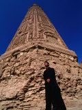 12th Century Minaret-E-Jam, the World's Second Tallest Minaret, Afghanistan Fotodruck von Stephane Victor