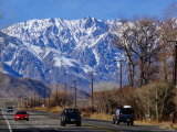 Highway 395 in Inyo County with the Eastern Sierras in Background, California, USA Photographic Print by Roberto Gerometta
