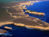 Aerial View of Lock Ard Gorge and the Twelve Apostles, Port Campbell National Park, Australia Photographic Print by Rodney Hyett