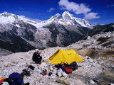 High Altitude Camp Site Opposite Nevado Huandoy, Cordillera Blanca, Ancash, Peru Photographic Print by Grant Dixon