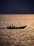Boat at Dusk, Perak, Malaysia Photographic Print by John Borthwick