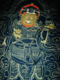Detail of Image in Watch Tower Museum (National Museum), Paro Town, Paro, Bhutan Photographic Print by Tony Wheeler