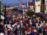 Holiday Crowds at Fisherman's Wharf on Fourth of July, San Francisco, California, USA Photographic Print by Richard I'Anson