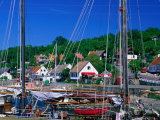 Vang Village Harbour, Bornholm, Denmark Photographic Print by Anders Blomqvist