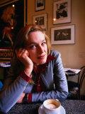Female in Caffe Greco, San Francisco, California, USA Photographic Print by Roberto Gerometta
