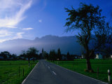 Ruggell village and Swiss mountains, Ruggell, Liechtenstein Photographic Print by Martin Moos
