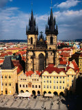 Tyn Church and Old Town Square Seen from Old Town Hall, Prague, Czech Republic Photographic Print by Jonathan Smith