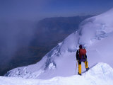 Climber High on Nevado Huascaran, Peru's Highest Peak, Cordillera Blanca, Ancash, Peru Photographic Print by Grant Dixon