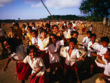 Playtime for School Children of Watu Karere, Sumba, East Nusa Tenggara, Indonesia Photographic Print by Paul Kennedy