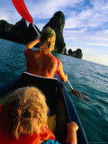 Mother and Daughter Sea Kayaking, Krabi, Thailand Photographic Print by Philip & Karen Smith