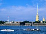 Neva from Troisky Bridge, St. Petersburg, Russia Photographic Print by Jonathan Smith