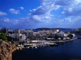 Wharf and Buildings Surrounding Voulismeni Lake, Agios Nikolaos, Greece Photographic Print by Setchfield Neil