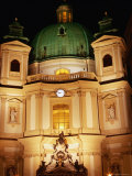 Peterskirche at Night, Innere Stadt, Vienna, Austria Photographic Print by Richard Nebesky