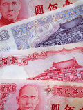 Paper money currency, Taiwan Photographic Print by Martin Moos
