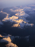 Aerial View of Mountains, Southern Alps, New Zealand Photographic Print by David Wall
