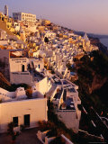 Town Buildings, Fira, Greece Photographic Print by Pershouse Craig