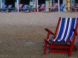 Empty Deckchairs on Beach, the Lido, Veneto, Italy Photographic Print by Roberto Gerometta