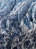 Overhead of Crevasses on Surface of Exit Glacier, Kenai Fjords National Park, USA Photographic Print by Brent Winebrenner