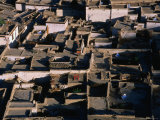 Rooftops of Tibetan Houses, Some with Solar Ovens, Shigatse, Tibet Photographic Print by Grant Dixon