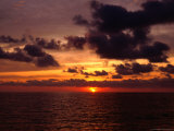 Sunset Over Ocean, Cartagena, Colombia Photographic Print by Krzysztof Dydynski