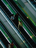 Escalator at New World Emporium Shopping Mall, Shanghai, China Photographic Print by Phil Weymouth