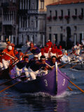 Caorline Regatta During Historiccal Regatta Pageant in Grand Canal, Venice, Veneto, Italy Photographic Print by Roberto Gerometta
