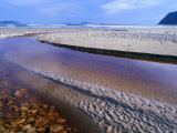 Shallow Water on Stones and Sand at Estuary on Cox Bluff, South West Nat. Park, Tasmania, Australia Photographic Print by Grant Dixon