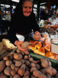 Vendor at Lehel Ter Market Stall, Budapest, Hungary Photographic Print by David Greedy