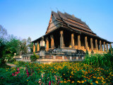Haw Pha Kaew (Hall of the Jewel Buddha Image), Vientiane, Vientiane Prefecture, Laos Photographic Print by Anders Blomqvist