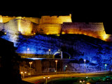Fort Saint-Nicolas, Lit Up at Night, Marseille, France Photographic Print by Jean-Bernard Carillet