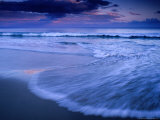 Wave on Shore of Neck Beach at Sunset, Bruny Island, Tasmania, Australia Photographic Print by Gareth McCormack