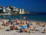 Sunbathers at North Bondi on a Summer Afternoon, Sydney, New South Wales, Australia Photographic Print by Barnett Ross
