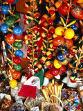 Handicrafts on Sale in Olvera Street, Los Angeles, USA Photographic Print by Rick Gerharter