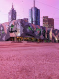 Federation Square at Dusk, Melbourne, Australia Photographic Print by John Banagan